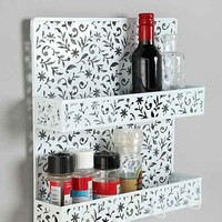 Floral Cutout Spice Rack- White One