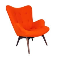 Paddington Lounge Chair in Apricot Orange