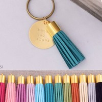 Zeta Tau Alpha Sorority Tassel Keychain | A-List Greek Designs