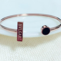 BVLGARI Fashion personality horizontal bar round brand relative open bracelet