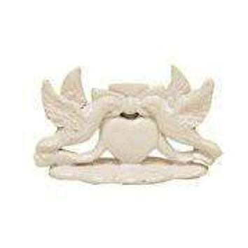 Set of 12 Place Card Holders - White Love Birds