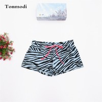 Pajamas For Women 100% Cotton Knitted Single Jersey Shorts Trunk Pajama Pants Women Lounge Pants Short