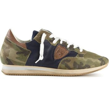 Philippe Model camouflage panel sneakers