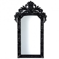Domino Black Venetian Mirror