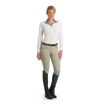 Ovation Ladies Aqua-X Knee Patch Breeches - Neutral Beige