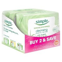 Simple Cleansing Facial Wipes - 25 Count - 2 Packs