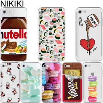ciciber Tumblr Nutella Makalon Chocolate Food Sushi Soft Silicon Case Cover for IPhone 6 6S 7 8 Plus 5 5S SE X Capinha Coque