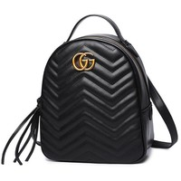 Gucci Bookbag Leather Backpack Daypack Bag