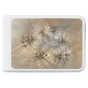 Earth Tones Abstract Modern Fractal Art Texture Power Bank
