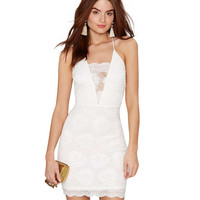 Cami Mini Dress with Lace Trim