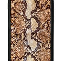Tan Snakeskin iPhone 6/7/8 Plus Case