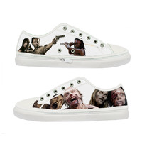 The Walking Dead Zombie woman canvas shoes - Size : US 9 EUR 40 White