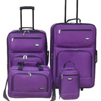 Hercules Jetlite 4-pc. Purple Upright Luggage Set One Size Purple