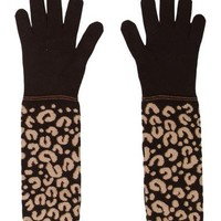 Cashmere & Silk-Blend Leopard Print Gloves w/ Tags