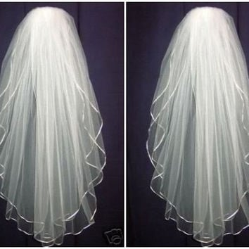 cheap simple l.5m white/Ivory long beading Wedding Veil Wedding tiara wedding veil/bridal veil/bridal accessories/head veil/tulle veil = 1933212100