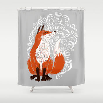 The Fox Says Shower Curtain by TotalBabyCakes
