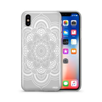 Henna Full Mandala  - Clear TPU Case Cover Phone Case
