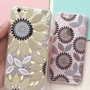 Hollow Out Sunflower iPhone 7 7Plus iPhone se 5s 6 6s Plus Case Cover + Nice Gift Box