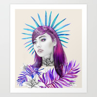 Lilly After Midnight Art Print by Sara Eshak