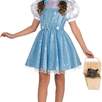 girl's costume: wizard of oz dorothy deluxe | small