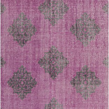 Surya Zahra ZHA4022 Purple/Black Medallion and Damask Area Rug