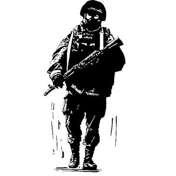 Military Wall Sticker Art Army Wall decals Art Support troops soldier silhouette marine Home Decoration Vinyl Adesivo H254
