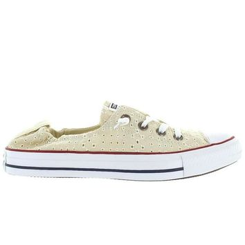 Converse All-Star Chuck Taylor Shoreline Slip - Off White Canvas Eyelet Cut-Out Slip-O