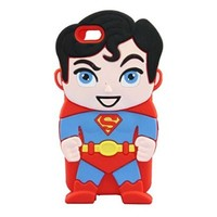 iPhone 6 Plus 6S Plus Case, Anya 3D Cute Bow Superhero Series Style Cartoon Soft Rubber Silicone Back Shell Case Cover Skin for Apple Iphone 6 6S Plus 5.5 inch Superman