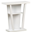 """White 32""""L Hall Console Accent Table"""