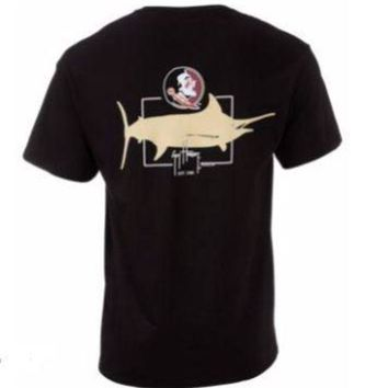 ONETOW NCAA Florida State Seminole Logo Guy Harvey T-Shirt