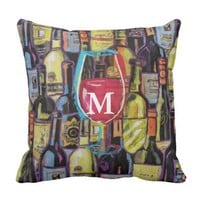 Vino Lovers Who Don't Have It All Outdoor Pillow