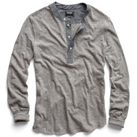 Classic Henley in Grey Heather
