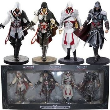ASSASSINS CREED EZIO AUDITORE COMPLETE COLLECTION SET 4 STATUE FIGURES UBISOFT