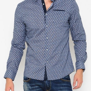 Magnum Long Sleeve Button Up Voiz Shirt