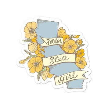 Golden State Girl Decal