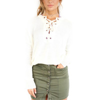 Oasis Olive Button Up Skirt