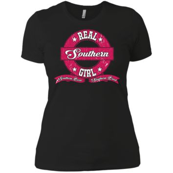 Real Southern Girl Next Level Ladies' Boyfriend Tee