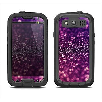 The Unfocused Purple & Pink Glimmer Samsung Galaxy S4 LifeProof Fre Case Skin Set