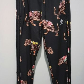 adidas Originals Flower Leopard Print Running Pants Sweatpants One-nice™