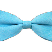 Classic Chambray - Ocean Blue (Cotton Bow Ties) from TheTieBar.com - Wear Your Good Tie Everyday