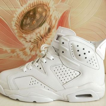 Best Deal Online Nike AIR JORDAN 6 RETRO White Women Sneakers Men Basketball Shoes