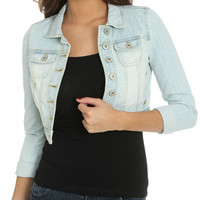 Cropped Roll Cuff Jacket | Shop Jackets at Wet Seal