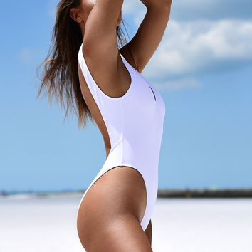 Backless High Cut Swimsuit