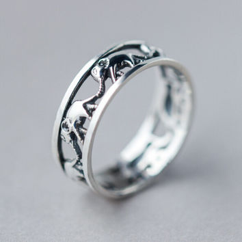 Retro Hollow Out Elephant ring Best Gift + Free Gift Box  167