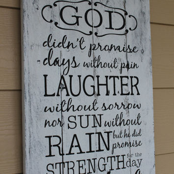 Inspirational hand painted pallet wood sign