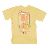 Lily Grace Mimosas Made Me Do It Short Sleeve T-shirt in Butter 12216