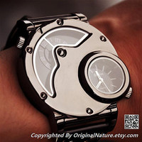 Mens Watch Steampunk Wrist Mechanical Watch - Anniversary Gifts for Men (ET0099-BLACK)