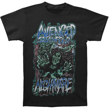 Avenged Sevenfold Men's  Reaper Scream Slim Fit T-shirt Black Rockabilia