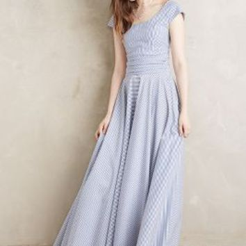Madame Shoushou South Island Maxi Dress in Blue Motif Size: