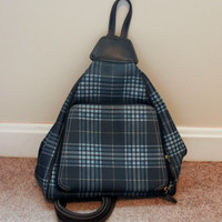 Blue Plaid Mini Backpack